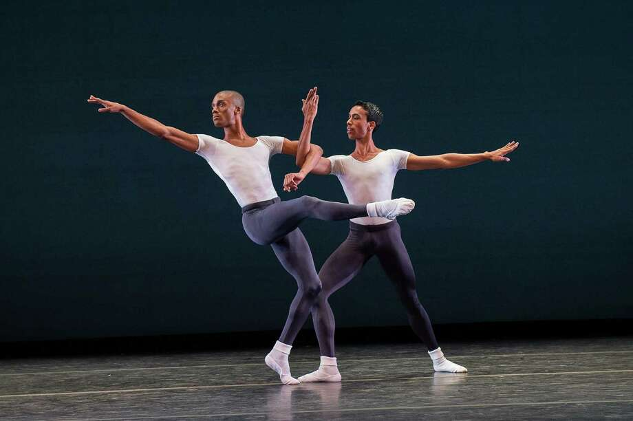 Anthony Savoy and Francis Lawrence of Dance Theatre of Harlem; photo Christopher Duggan, courtesy of Jacob's Pillow Dance