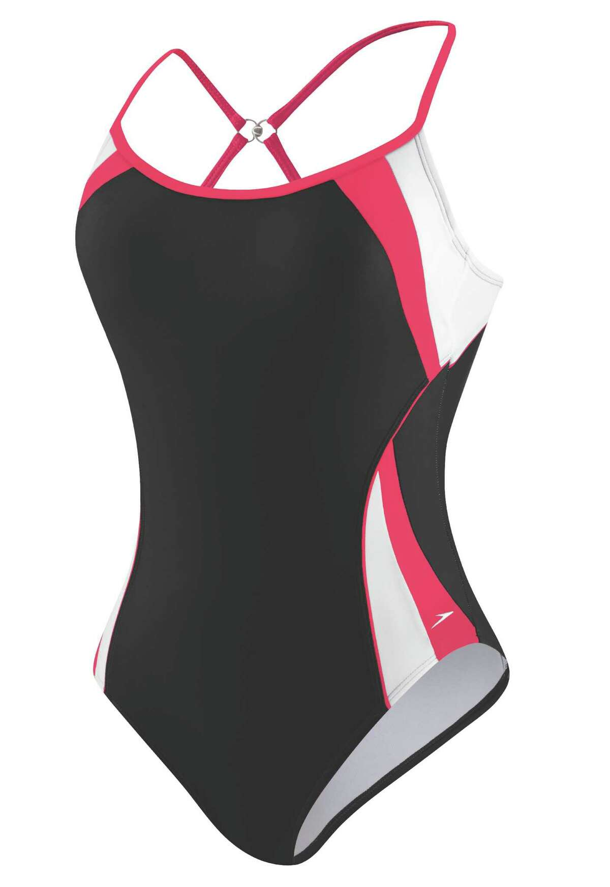 Speedo Fitness Spiral Splice Clip Back swimsuit Proper swim form requires a proper training swimsuit (save the bikinis for days spent lounging, not lapping), but if you must invest in a suit for swimming fast, at least this one by swimming pros Speedo has a sexy racing stripe, plus adjustable straps to wear straight or criss-crossed for a more custom fit. Buy it: $78 at speedo.com