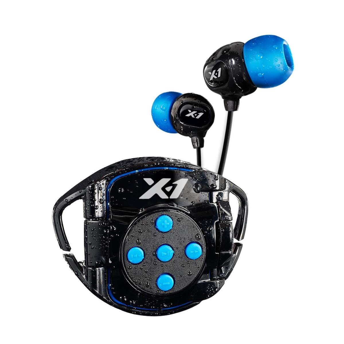 X-1 Interval 4G Waterproof Headphone System You know from the cardio room that the right playlist can pump you up and keep you moving faster and longer. And now, headphones aren't just for sports that take place on dry land. The X-1 system doesn't require any effort to format or move your tunes onto a new system; instead, it's designed to work with an iPod Shuffle, encasing it in a waterproof case and attaching to your goggles for a quick and easy transition. Buy it: $99 at The Sports Authority, Sun & Ski Sports