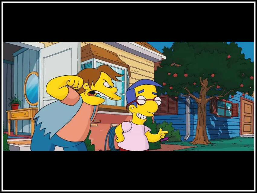 The Simpsons: Nelson Muntz is a classic case of bullying as a way of overcompensation for a lack of smarts and a poor home life: