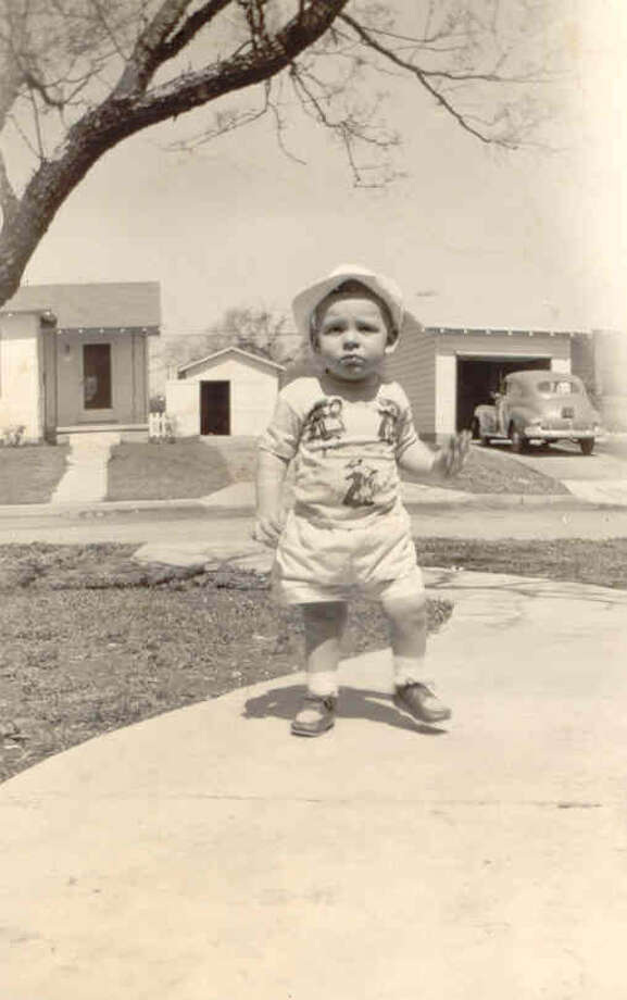 Fifteen-month-old Darryl Pearson stands in front of his house on Overhill Drive in 1950. Photo: Pearson, Reader Submission