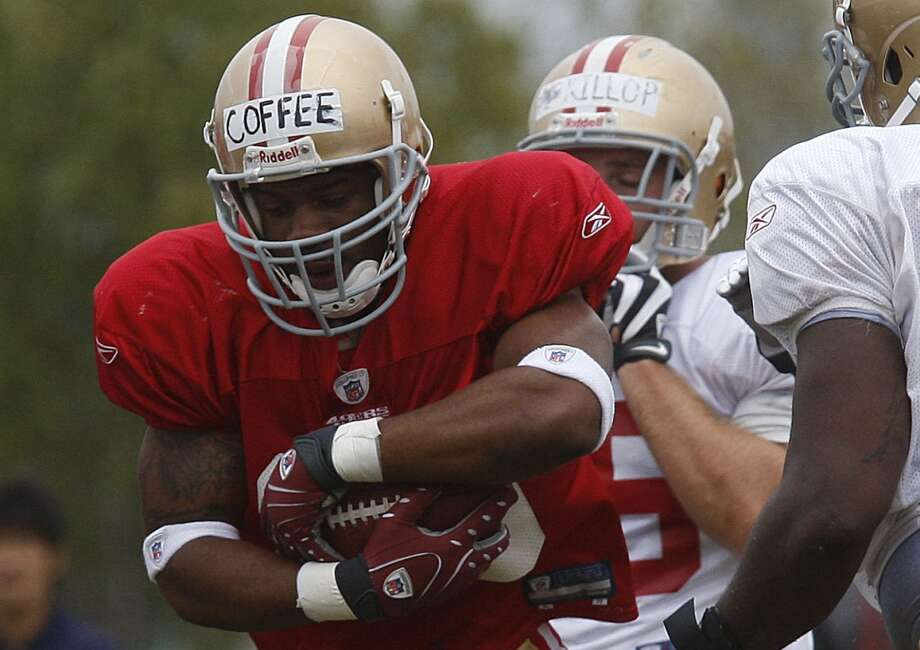 Former San Francisco 49ers running back  Glen Coffee, during practice in Santa Clara, Calif., on Monday, August 2, 2009.