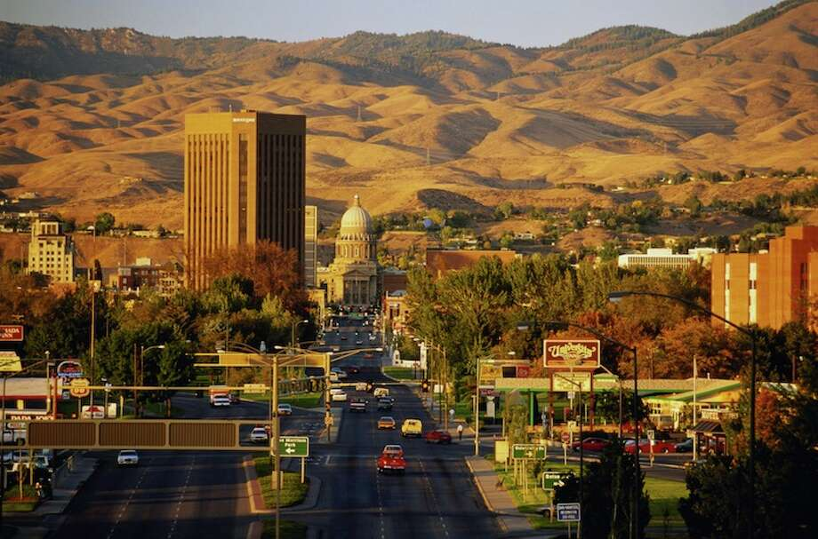 No. 42: Idaho With an index score of 4.5, and a life expectancy of 79.5 years, this state is No. 42 on the list.   USA, Idaho, Boise, view of downtown and Capitol Building