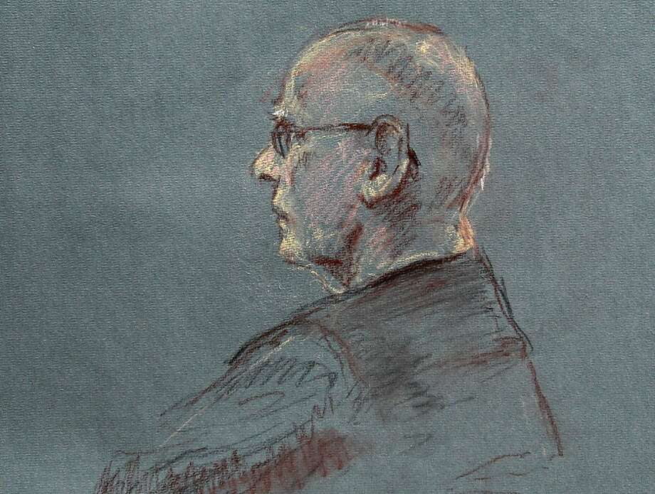 "This courtroom sketch depicts James ""Whitey"" Bulger at the beginning of jury selection for his trial in U.S. District Court in Boston, Tuesday, June 4, 2013. Bulger faces a long list of crimes, including playing a role in 19 killings. He spent more than 16 years on the run before being captured in Santa Monica, Calif., in 2011.  Photo: Margaret Small, Associated Press"