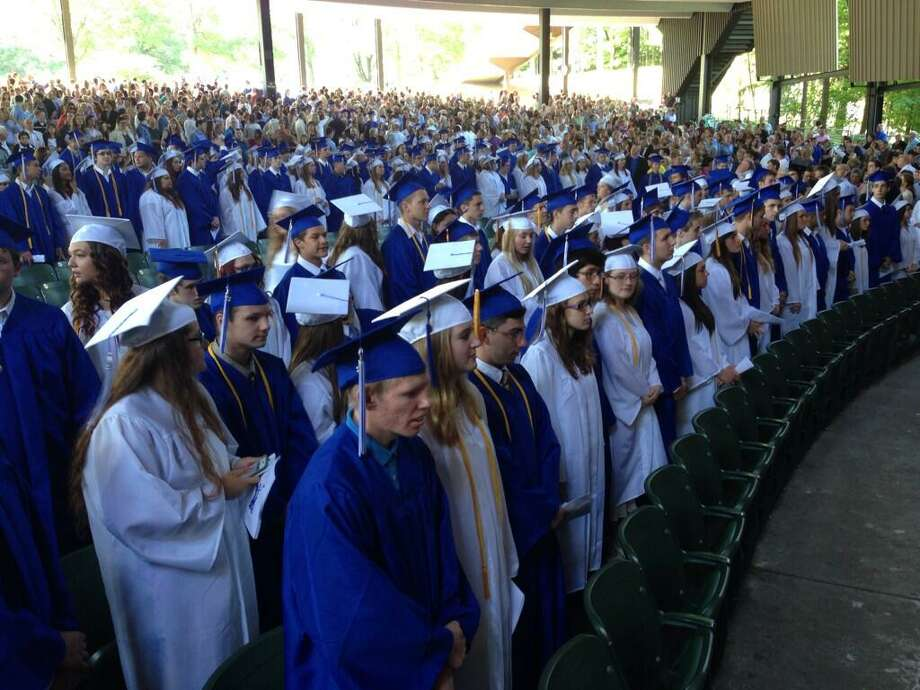 Saratoga High School graduates approximately 480 students on Friday, June 21, 2013, at the Saratoga Performing Arts Center. (Skip Dickstein/Times Union)