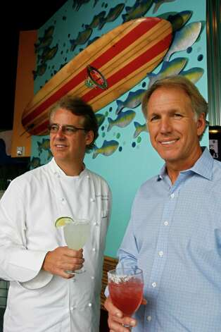 Schiller Del Grande Restaurant GroupPhoto:Lonnie Shiller, right, and chef Robert Del Grande Photo: Johnny Hanson, FREELANCE / Freelance