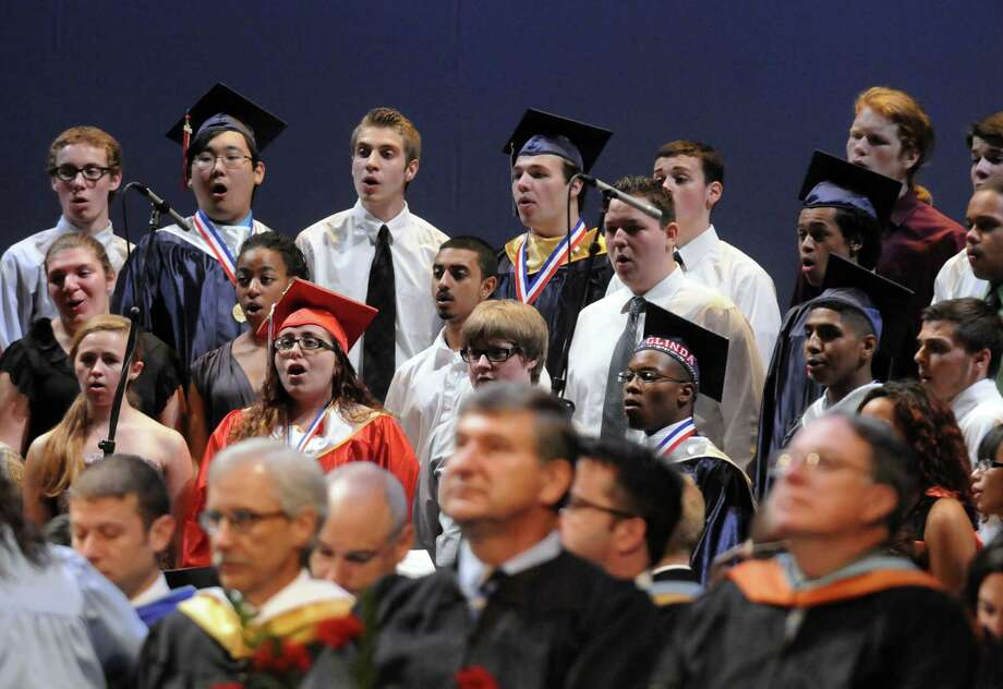 The Schenectady High School Serenaders sing during Schenectady High School's graduation commencement at Proctors Theater on Friday June 21, 2013 in Schenectady, N.Y. (Michael P. Farrell/Times Union) Photo: Michael P. Farrell