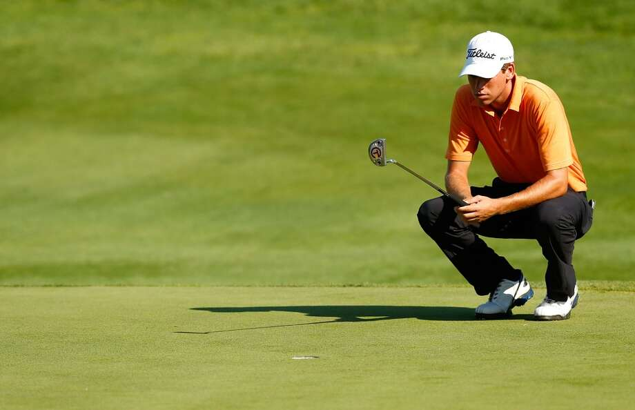 CROMWELL, CT- JUNE 21: Ben Kohles lines up his putt on the 17th hole during the second round of the 2013 Travelers Championship at TPC River Highlands on June 21, 2012 in Cromwell, Connecticut.  (Photo by Jared Wickerham/Getty Images)