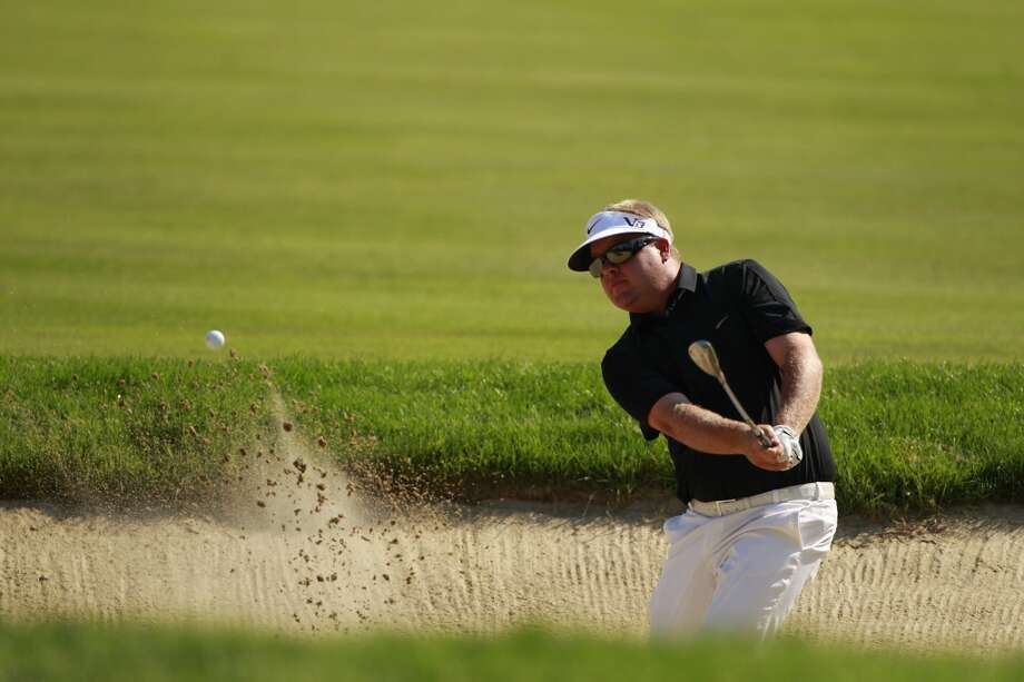 CROMWELL, CT - JUNE 21:  Carl Pettersson of Sweden hits a shot from a bunker during the second round of the Travelers Championship held at TPC River Highlands on June 21, 2013 in Cromwell, Connecticut.  (Photo by Michael Cohen/Getty Images)