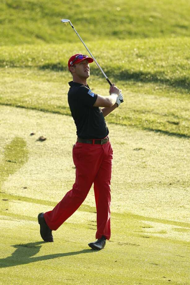 CROMWELL, CT - JUNE 21:  Graham DeLaet of Canada hits  a  shot during the second round of the Travelers Championship held at TPC River Highlands on June 21, 2013 in Cromwell, Connecticut.  (Photo by Michael Cohen/Getty Images)