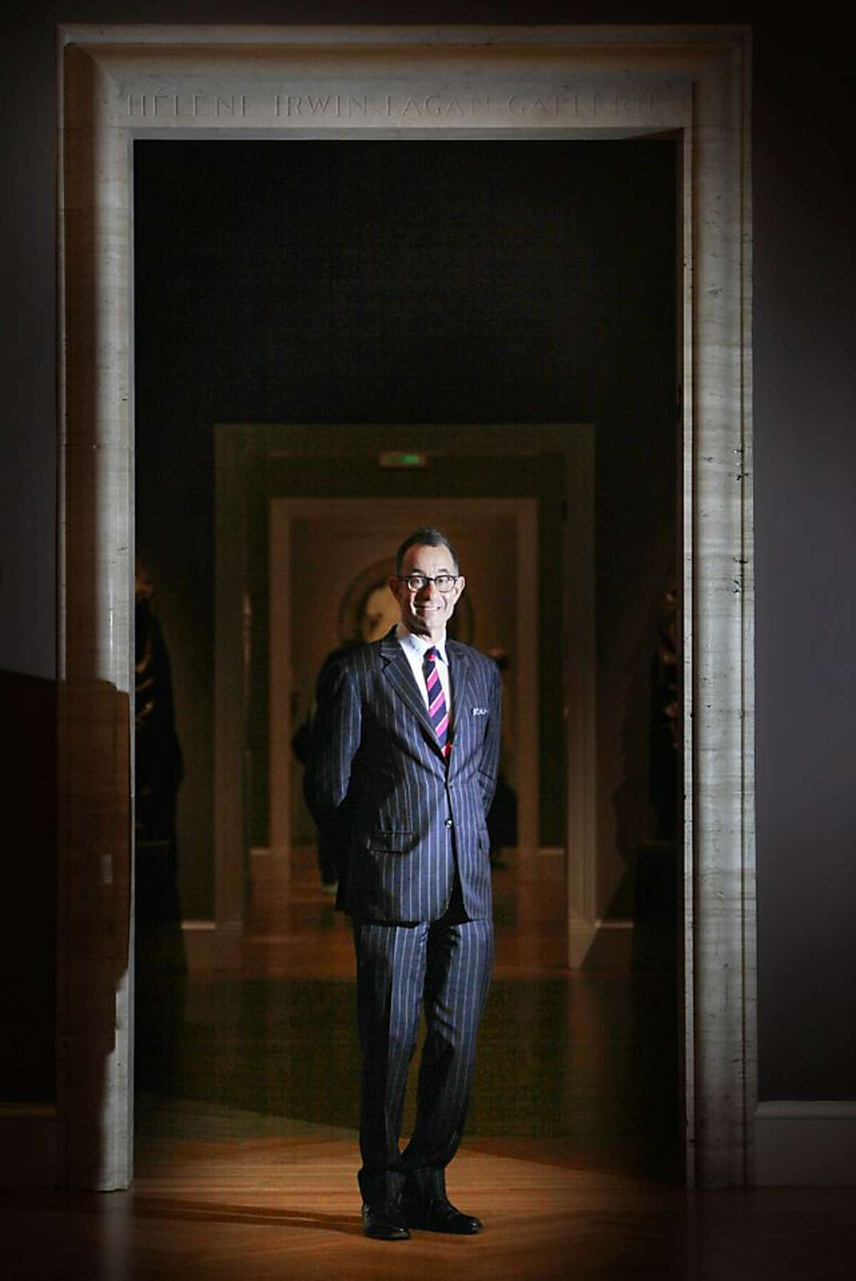 David Bailey stands in a gallery at the Legion of Honor on Wednesday, June 19, 2013 in San Francisco, Calif.