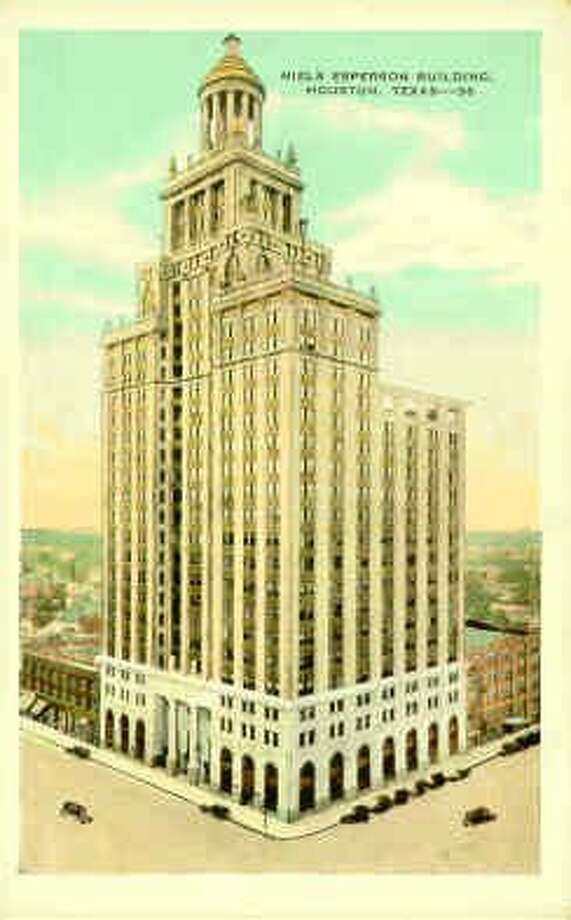 A postcard of the Niels Esperson Building.