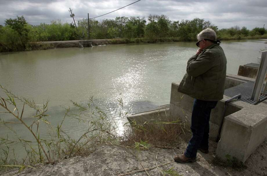 The main irrigation canal in Mercedes in Hidalgo County draws water from the Rio Grande. Drought and water shortages are taking a toll on farming in the Rio Grande Valley. Photo: Express-News File Photo