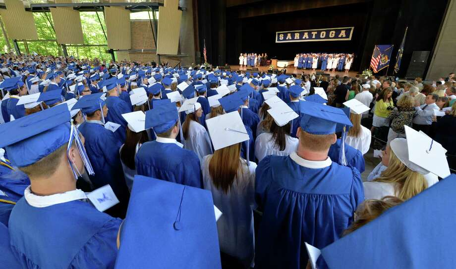 Over 480 Saratoga High School students  graduated during the ceremony held at the Saratoga Performing Arts Center June 21, 2013 in Saratoga Springs, N.Y.   (Skip Dickstein/Times Union) Photo: SKIP DICKSTEIN / 10022848A