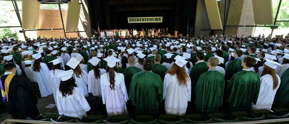 725 Shenendehowa High School students graduated Friday during their commencement ceremony held at the Saratoga Performing Arts Center June 21, 2013 in Saratoga Springs, N.Y.   (Skip Dickstein/Times Union) Photo: SKIP DICKSTEIN / 10022849A