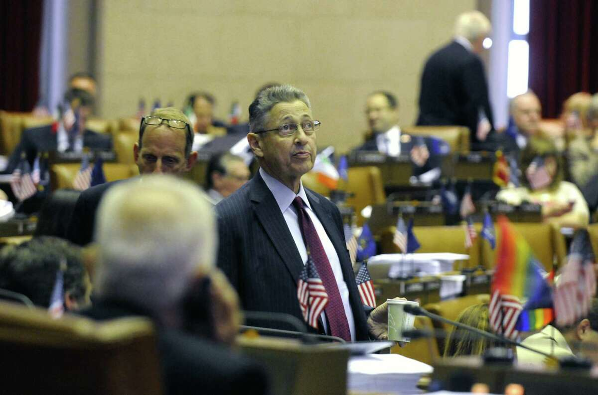 Assembly Speaker of the House Sheldon Silver walks the assembly floor as the New York State Assembly finishes up passing bills as the legislative session draws to a close at the Capitol on Friday June 21, 2013 in Albany, N.Y. (Michael P. Farrell/Times Union)