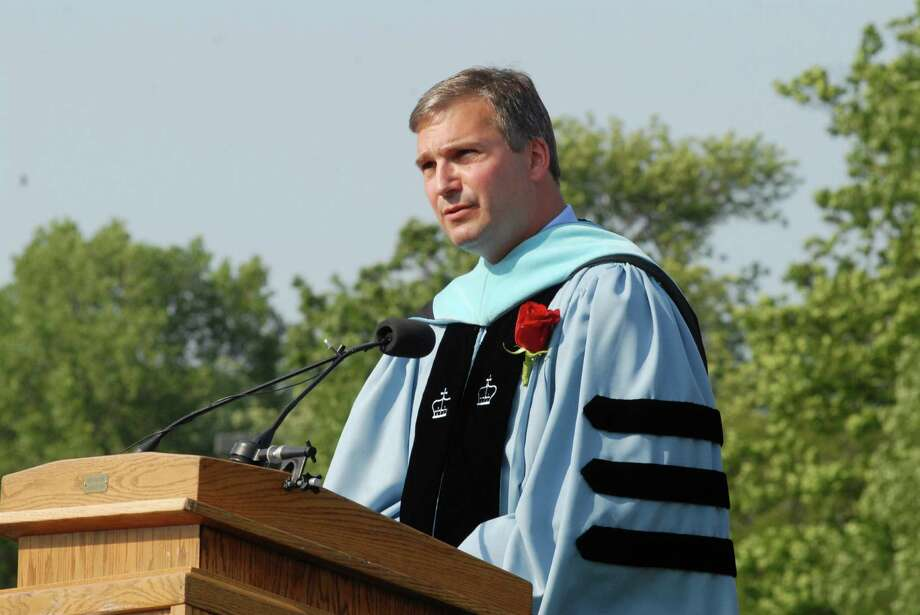 Principal Bryan Luizzi speaks at New Canaan ( Conn. ) High School graduation commencement ceremony on Friday June 21, 2013. Photo: Dru Nadler / Stamford Advocate Freelance
