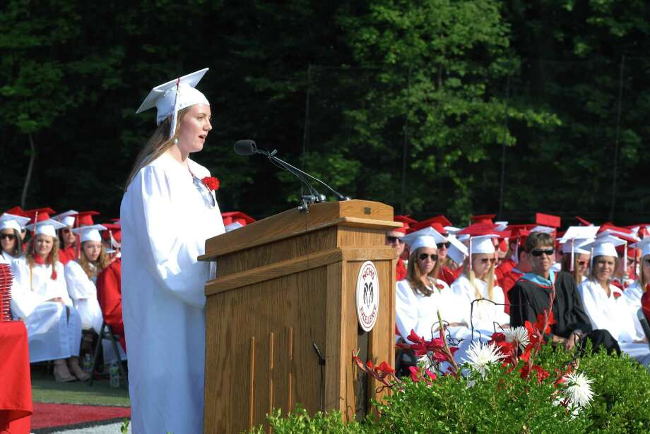 New Canaan ( Conn. ) High School graduation commencement ceremony on Friday June 21, 2013. Photo: Dru Nadler / Stamford Advocate Freelance