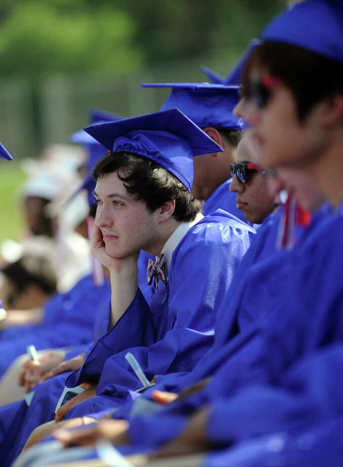 Friday's commencement ceremony at Brien McMahon High School on June 21, 2013. Photo: Lindsay Perry / Stamford Advocate