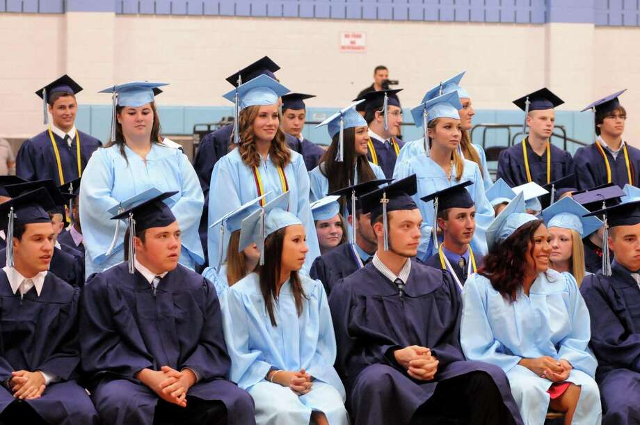 Oxford High School held their graduation commencement ceremony on their campus Friday, June 21, 2013. Photo: Lisa Weir