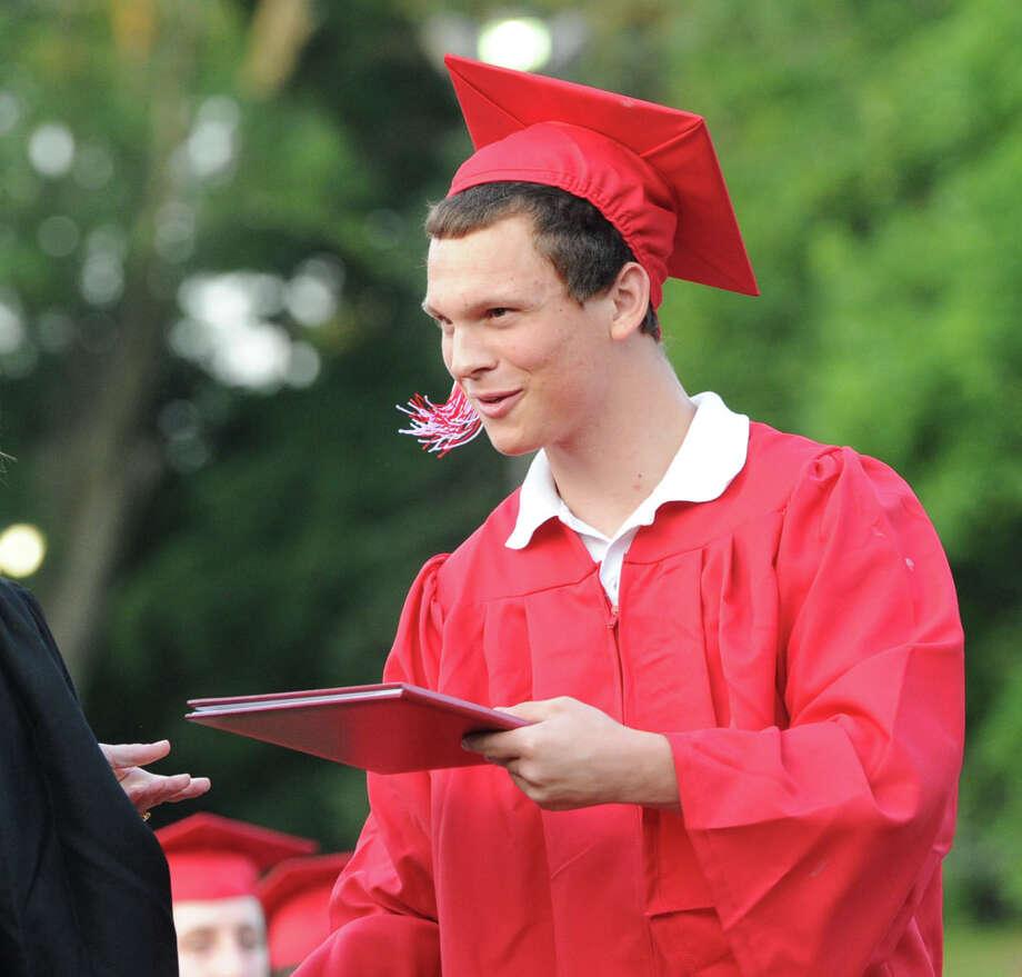 Greenwich High School graduation ceremony at Cardinal Stadium, Friday evening, June 21, 2013. Photo: Bob Luckey / Greenwich Time