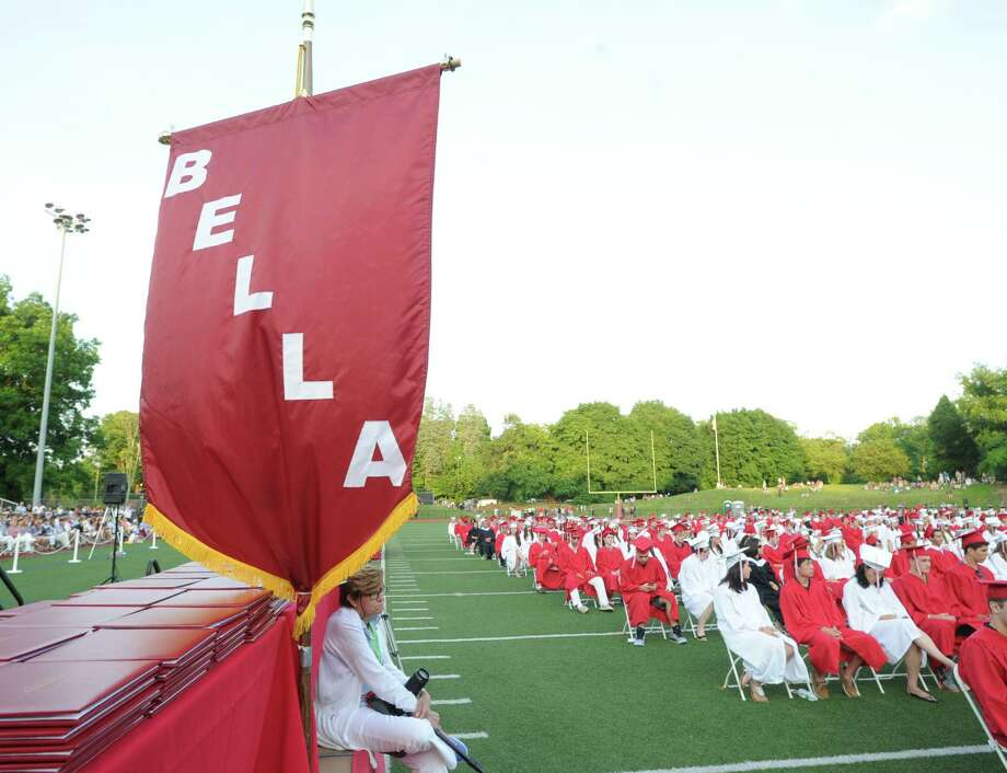 Greenwich High School graduation ceremony at Cardinal Stadium, Friday evening, June 21, 2013. Photo: Bob Luckey / Greenwich Time