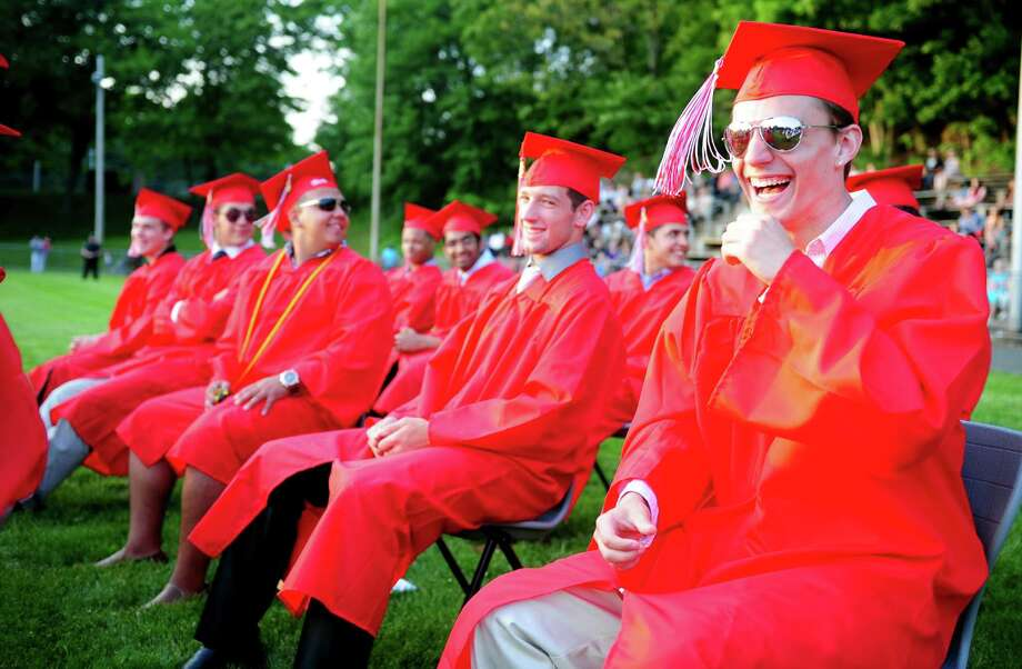 Derby High School holds its commencement ceremony Friday, June 21, 2013 on the football field. Photo: Autumn Driscoll / Connecticut Post