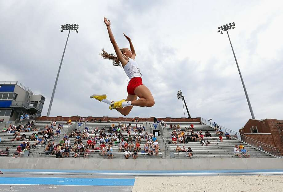 DES MOINES, IA - JUNE 21:  Sami Spenner competes in the Women's Long Jump portion of the Heptathlon on day two of the 2013 USA Outdoor Track & Field Championships at Drake Stadium on June 21, 2013 in Des Moines, Iowa.  (Photo by Christian Petersen/Getty Images) Photo: Christian Petersen, Getty Images