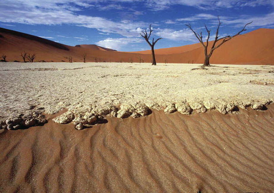 The Namib Sand Sea is the only coastal desert in the world that includes extensive dune fields influenced by fog.