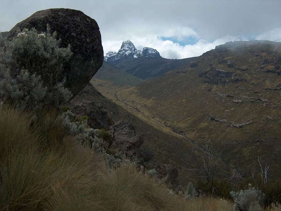 The recently expanded Mount Kenya-Lewa Wildlife conservancy World Heritage Site is renowned as the location of the second highest peak in Africa, Mount Kenya, rising some 17,000 feet above  the sea.