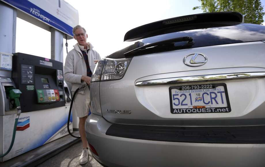 No. 47 -- Canada, $4.62/gallon  Canada is the world's sixth-biggest oil producer and has higher income per person than the U.S. These stats add up to cheap gas and little pain at the pump. Only Americans use more gas per capita than Canadians. Canada's gas price fell 2.9 percent for the quarter. Photo: Elaine Thompson, Associated Press