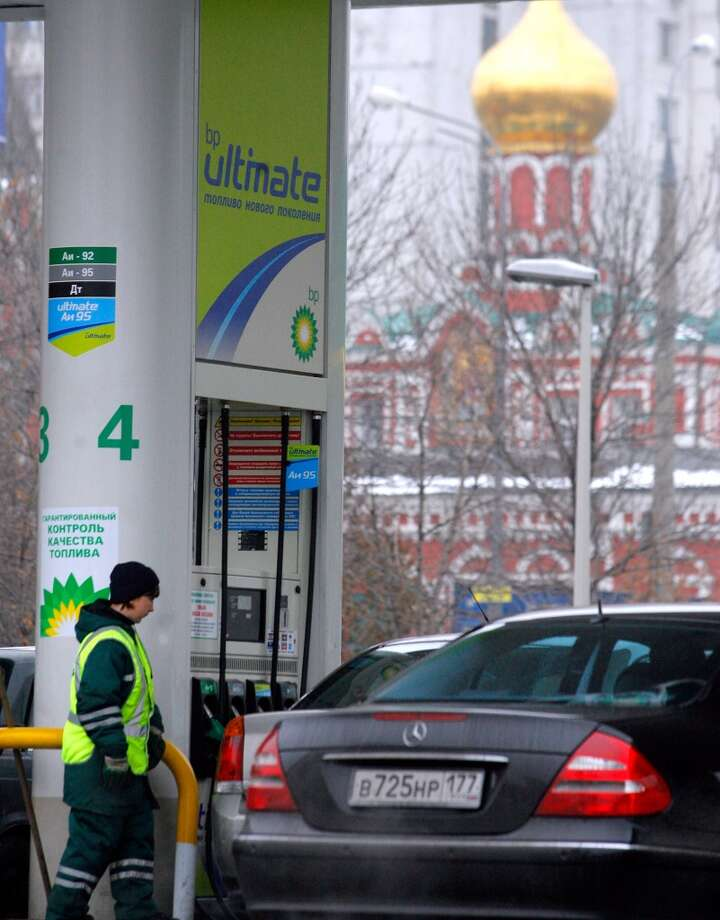 No. 50 -- Russia, $3.60  Russia is the second-biggest oil producer, after Saudi Arabia, and has some of the world's cheapest gas prices. Russian prices jumped 4 percent for the quarter.  [Photo: An employee of a BP gasoline station walks in Moscow.] Photo: MIKHAIL METZEL, AP