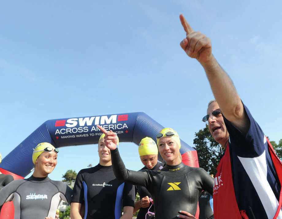 The eighth-annual Greenwich-Stamford Swim Across America is Saturday. Proceeds from the swim will support Alliance for Cancer Gene Therapy, the nation's only foundation dedicated exclusively to funding cancer gene therapy research. Find out more.  Photo: Bob Luckey / Greenwich Time