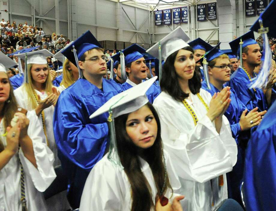 Newtown High School Class of 2013 graduation exercises take place at the O'Neill Center, on the campus of Western Connecticut State University, in Danbury, Conn. Saturday, June 22, 2013. Photo: Michael Duffy / The News-Times