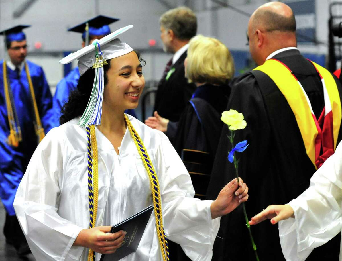 Newtown High School Class of 2013 graduation exercises take place at the O'Neill Center, on the campus of Western Connecticut State University, in Danbury, Conn. Saturday, June 22, 2013.