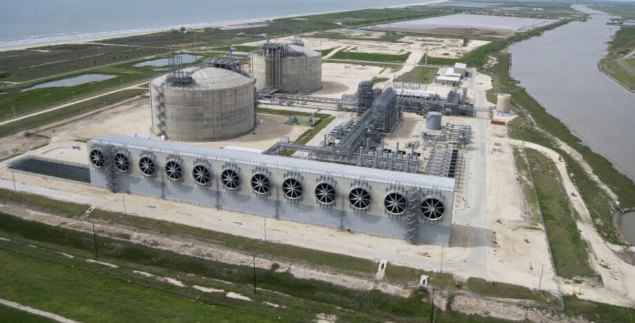 The Freeport LNG facility opened in 2008 as a regasification site for natural gas imported in liquid form from overseas.  / Io_Communications 713-661-6677