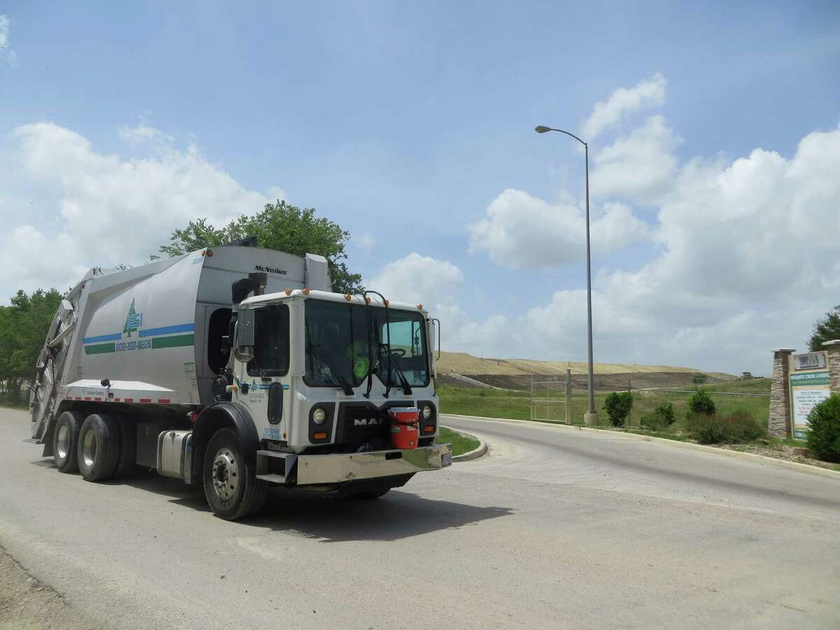 Guadalupe County Number of driving registrations: 97,291Number of uninsured registrations: 11,001Percent of uninsured registrations: 11.31%Pictured, a garbage truck passes Mesquite Creek Landfill located on the border of Comal and Guadalupe Counties just north of New Braunfels and east of Interstate 35.