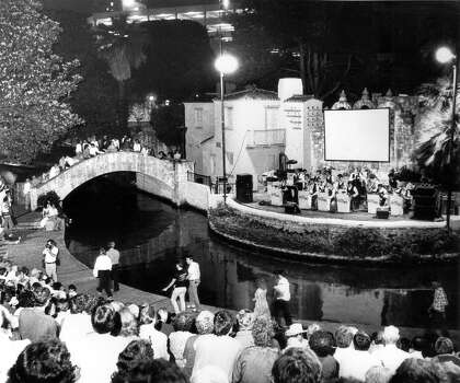 Paul Elizondo and Orchestra perform at the Arnesan River Theatre on the San Antonio River in this March 17, 1983 file photo. Photo: Steve Krauss, San Antonio Express-News File Photo / SAN ANTONIO EXPRESS-NEWS