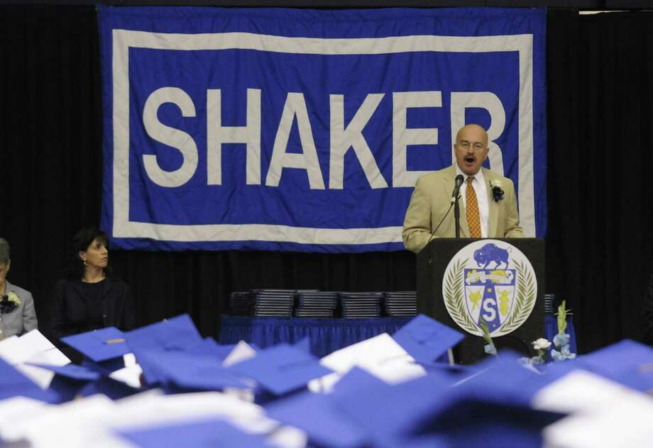 D. Joseph Corr superintendent of the North Colonie School District speaks during Shaker High Schools graduation commencement at the SEFCU Arena on Saturday June 22, 2013 in Albany, N.Y. (Michael P. Farrell/Times Union) Photo: Michael P. Farrell