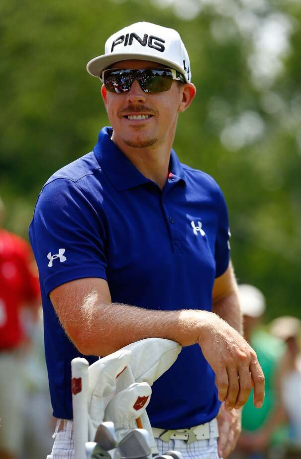 CROMWELL, CT- JUNE 22: Hunter Mahan shares a laugh  during the third round of the 2013 Travelers Championship at TPC River Highlands on June 22, 2012 in Cromwell, Connecticut.  (Photo by Jared Wickerham/Getty Images)