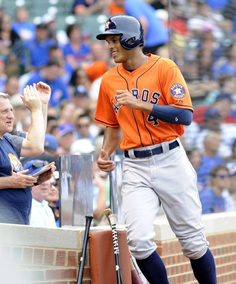 June 22: Astros 4, Cubs 3 A game-tying three-run homer from J.D. Martinez in the sixth inning and a go-ahead ninth-inning run from Justin Maxwell led the Astros to the series tying win at Wrigley Field.  Record: 29-47. Photo: Joe Raymond, Associated Press