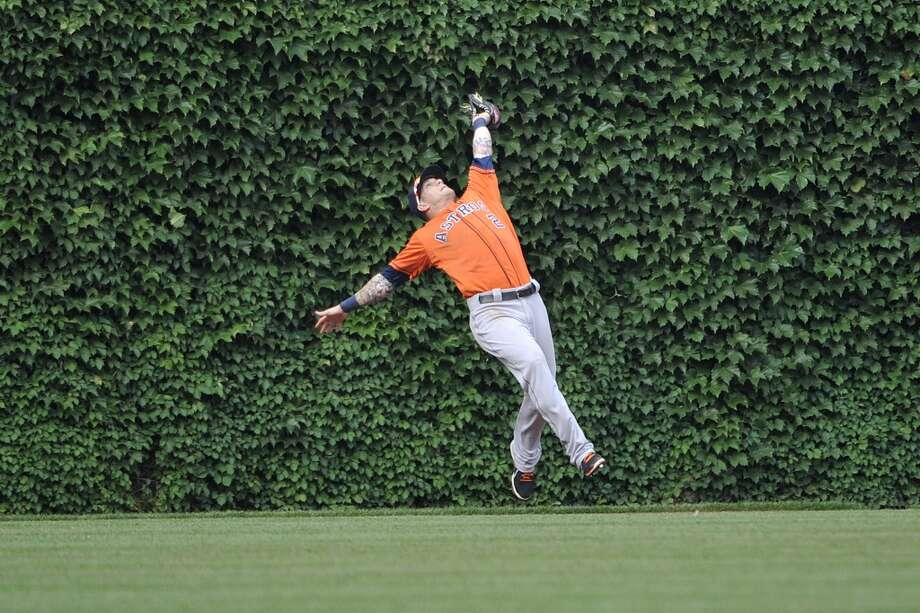 June 22: Astros 4, Cubs 3Brandon Barnes makes a leaping catch on Starlin Castro's deep fly ball.