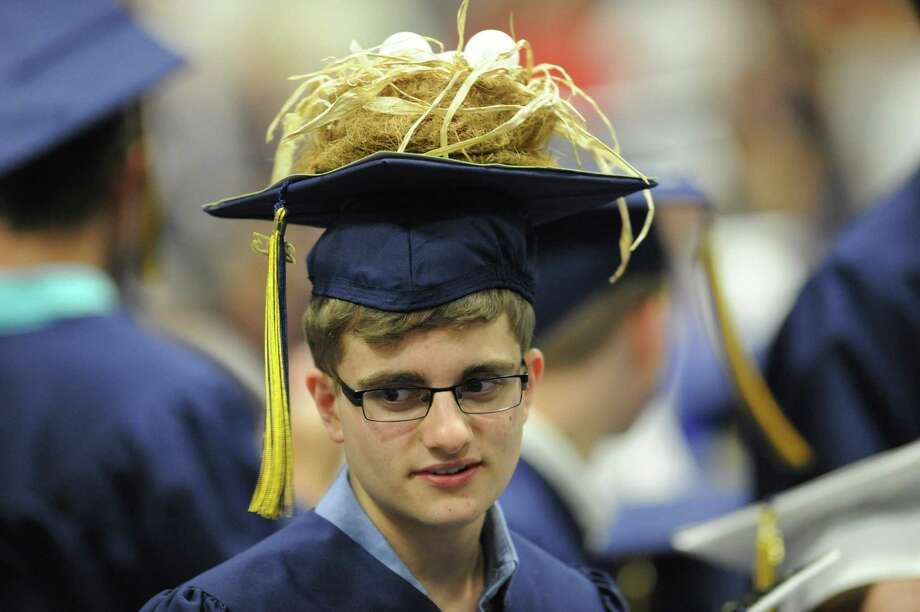 Photos from the 2013 Brookfield High School commencement ceremony at the O'Neill Center in Danbury, Conn. on Saturday, June 22, 2013. Photo: Tyler Sizemore / The News-Times