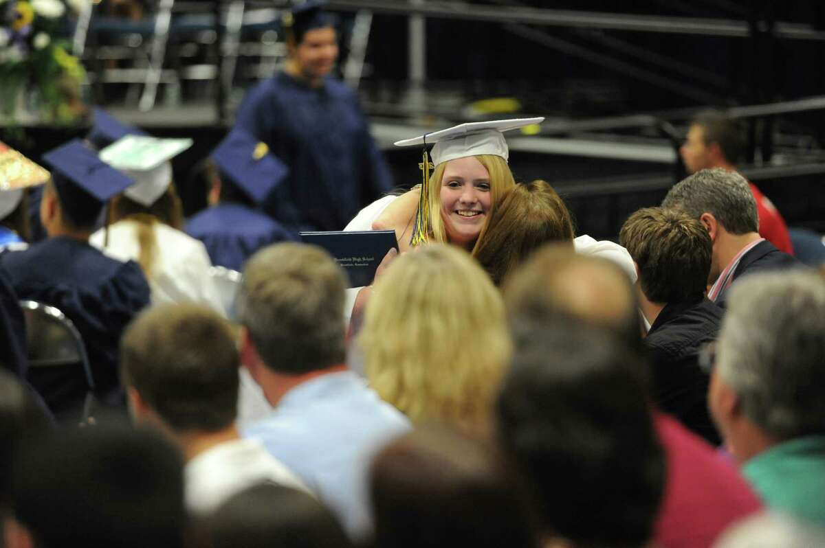 Photos from the 2013 Brookfield High School commencement ceremony at the O'Neill Center in Danbury, Conn. on Saturday, June 22, 2013.