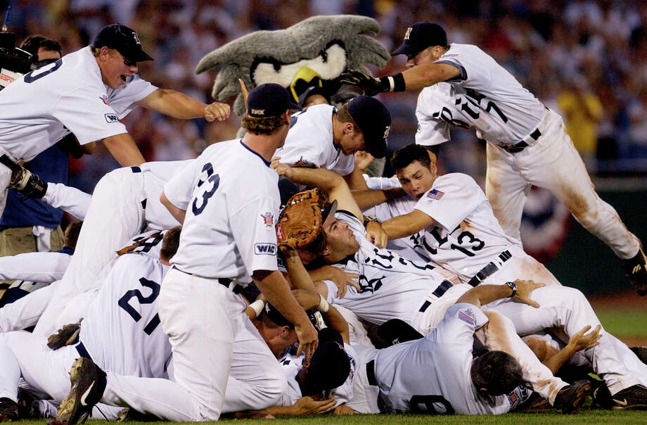 Rice was on top of college baseball after dominating Stanford 14-2 in the final game of the 2003 College World Series to claim the school's only national title. Photo: TED KIRK, STR / AP