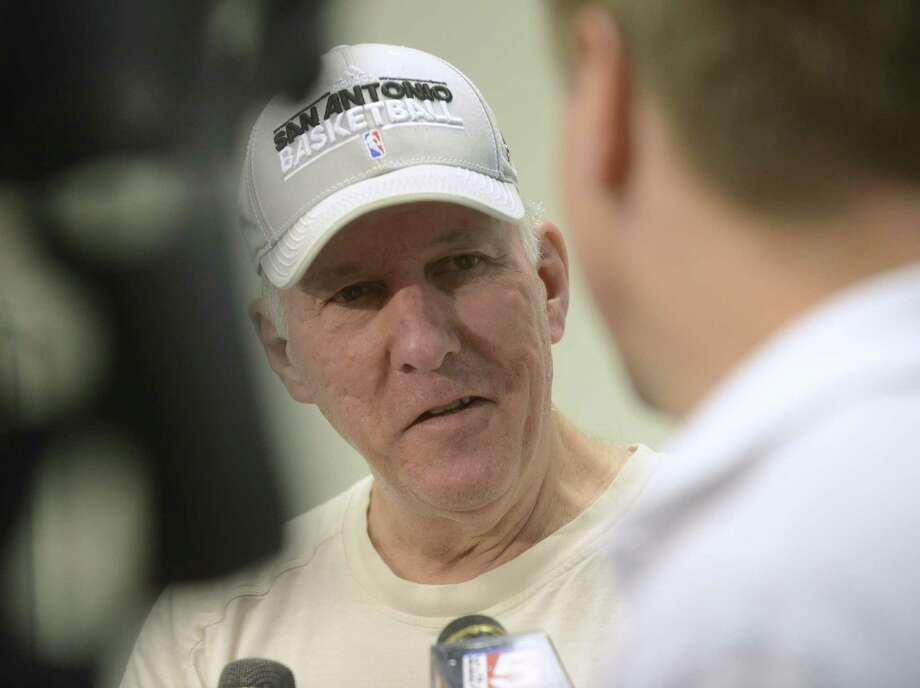 "Despite its disappointing end, Spurs coach Gregg Popovich said Saturday, ""It was a great year in a lot of ways."" Photo: Billy Calzada / San Antonio Express-News"
