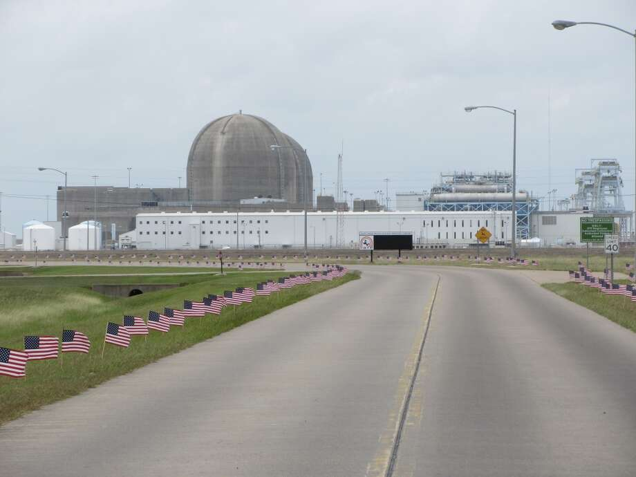 The entrance to the South Texas Project, a two-unit nuclear facility located outside of Bay City, Texas. The plant is located on a 12,200 acre site. Combined the two units produce 2,700 megawatts of electricity, enough to power two million Texas homes. The two-unit nuclear facility, one of the nation's largest, began commercial operation in 1988 and 1989 respectively. Photo: Emily Pickrell, Houston Chronicle