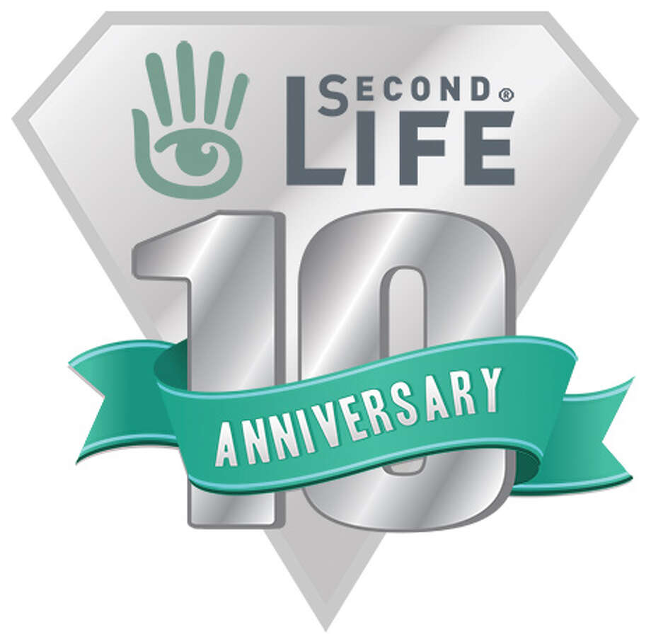 Online virtual world Second Life's 10th anniversary logo. Photo: Linden Lab