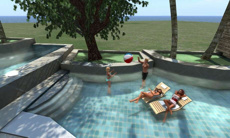 A 2013 scene from the online virtual world Second Life.