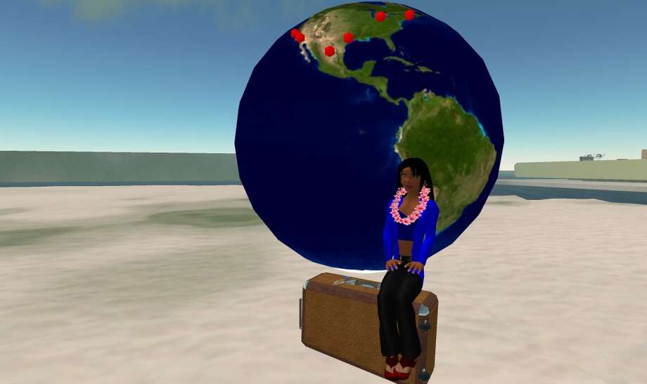 The avatar of author Cherilyn Parsons as she prepares for her journey into Second Life.